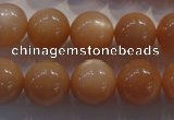CMS735 15.5 inches 14mm round A grade natural peach moonstone beads