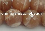 CMS947 15.5 inches 18mm faceted round A grade moonstone gemstone beads