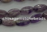 CNA1035 15.5 inches 6*10mm oval dogtooth amethyst beads wholesale