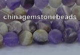 CNA1051 15.5 inches 6mm round matte dogtooth amethyst beads