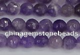 CNA1071 15.5 inches 6mm faceted round dogtooth amethyst beads
