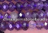 CNA1117 15.5 inches 3*4mm faceted rondelle amethyst beads wholesale