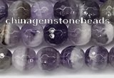 CNA1161 15.5 inches 6mm faceted round natural dogtooth amethyst beads