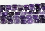 CNA1184 15.5 inches 10*14mm rectangle amethyst beads wholesale