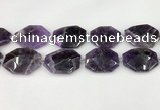 CNA1213 15.5 inches 25*35mm - 30*40mm faceted freefrom amethyst beads