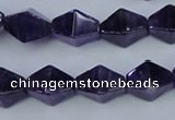 CNA295 15.5 inches 10*16mm pyramid natural amethyst beads
