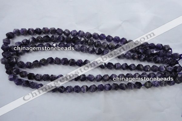 CNA502 15 inches 8mm faceted nuggets amethyst gemstone beads