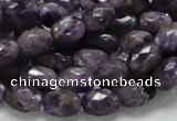 CNA51 15.5 inches 8*11mm faceted rice grade AB+ natural amethyst beads