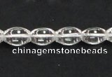 CNC38 9*13mm rice grade A natural white crystal beads wholesale