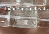 CNC813 15.5 inches 15*20mm faceted rectangle white crystal beads