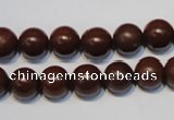 CNE11 15.5 inches 12mm round red stone needle beads wholesale