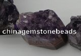 CNG1019 15.5 inches 20*25mm - 25*35mm nuggets amethyst gemstone beads
