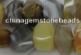 CNG1026 15.5 inches 10*14mm - 15*20mm faceted nuggets Botswana agate beads