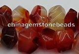 CNG1145 15.5 inches 10*14mm - 15*20mm faceted nuggets red agate beads