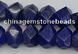CNG1147 15.5 inches 10*14mm - 13*18mm faceted nuggets lapis lazuli beads