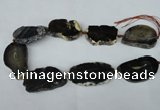 CNG1248 15.5 inches 30*40mm - 40*50mm freeform agate beads