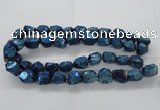 CNG1803 13*18mm - 15*20mm faceted nuggets plated quartz beads