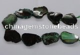 CNG2142 15.5 inches 30*35mm - 35*40mm freeform agate gemstone beads