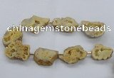 CNG2491 15.5 inches 30*40mm - 40*50mm freeform plated druzy agate beads