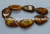 CNG2653 15.5 inches 38*48mm - 42*55mm freeform agate beads