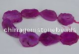 CNG2671 15.5 inches 30*40mm - 40*50mm freeform druzy agate beads