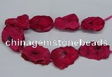 CNG2677 15.5 inches 30*40mm - 40*50mm freeform druzy agate beads