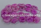 CNG2848 15.5 inches 30*40mm - 45*50mm freeform druzy agate beads
