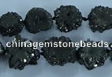 CNG2973 15.5 inches 8*10mm - 15*18mm freeform druzy agate beads