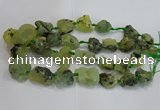 CNG3020 15*20mm - 22*30mm nuggets green rutilated quartz beads