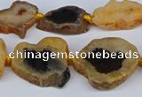 CNG3168 15.5 inches 15*20mm - 25*30mm freeform druzy agate beads