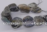 CNG3195 15.5 inches 30*40mm - 35*50mm freeform plated druzy agate beads
