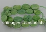 CNG3273 15.5 inches 22*30mm - 30*40mm freeform druzy agate beads