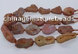 CNG3284 25*30mm - 28*45mm freeform plated druzy agate beads