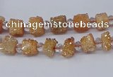 CNG3321 15.5 inches 4*6mm - 8*10mm nuggets plated druzy agate beads