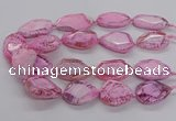 CNG3360 15.5 inches 30*35mm - 35*45mm faceted freeform agate beads
