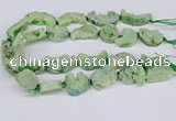 CNG3378 20*30mm - 30*45mm freeform plated druzy agate beads