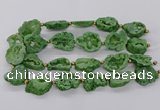 CNG3416 15.5 inches 18*25mm - 30*35mm freeform plated druzy agate beads