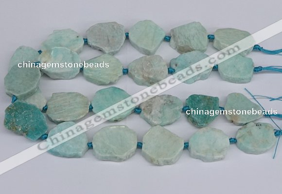 CNG3469 15.5 inches 20*25mm - 30*35mm freeform amazonite beads
