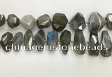 CNG3591 15*25mm - 25*35mm faceted nuggets labradorite beads
