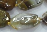 CNG468 15.5 inches 15*20mm - 20*32mm nuggets agate beads