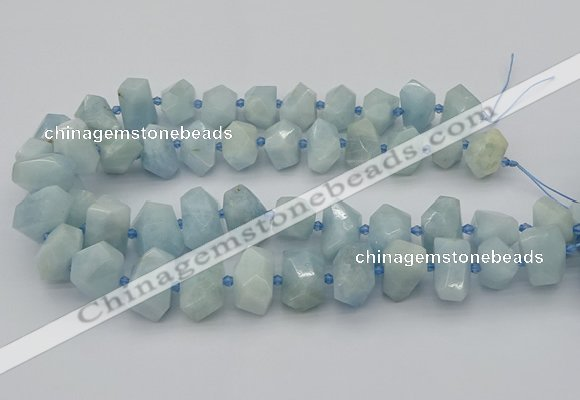 CNG5218 15.5 inches 12*16mm - 15*20mm faceted nuggets aquamarine beads