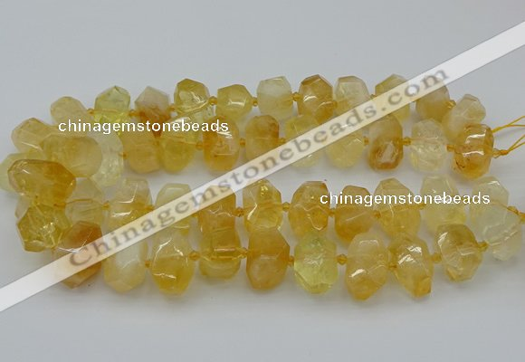 CNG5219 15.5 inches 12*16mm - 15*20mm faceted nuggets citrine beads
