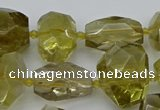 CNG5236 15.5 inches 13*18mm - 18*25mm faceted nuggets lemon quartz beads
