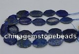 CNG5258 15.5 inches 20*30mm - 25*35mm faceted freeform lapis lzuli beads