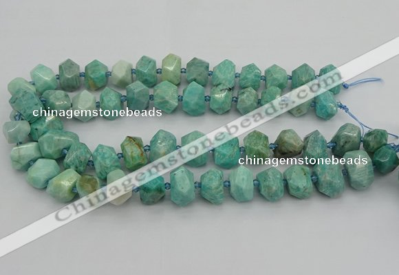 CNG5271 15.5 inches 10*14mm - 15*20mm faceted nuggets amazonite beads