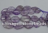 CNG5283 15.5 inches 20*30mm - 35*45mm faceted freeform amethyst beads