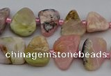 CNG5293 15.5 inches 8*12mm - 15*20mm freeform pink opal gemstone beads