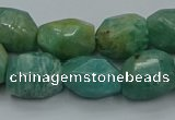 CNG5320 15.5 inches 12*16mm - 13*18mm faceted nuggets amazonite beads