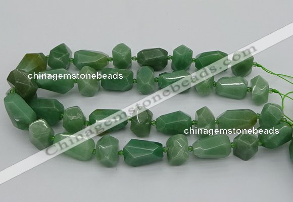 CNG5374 15.5 inches 12*16mm - 18*25mm faceted nuggets green aventurine bead