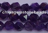 CNG5492 15.5 inches 8mm faceted nuggets amethyst gemstone beads